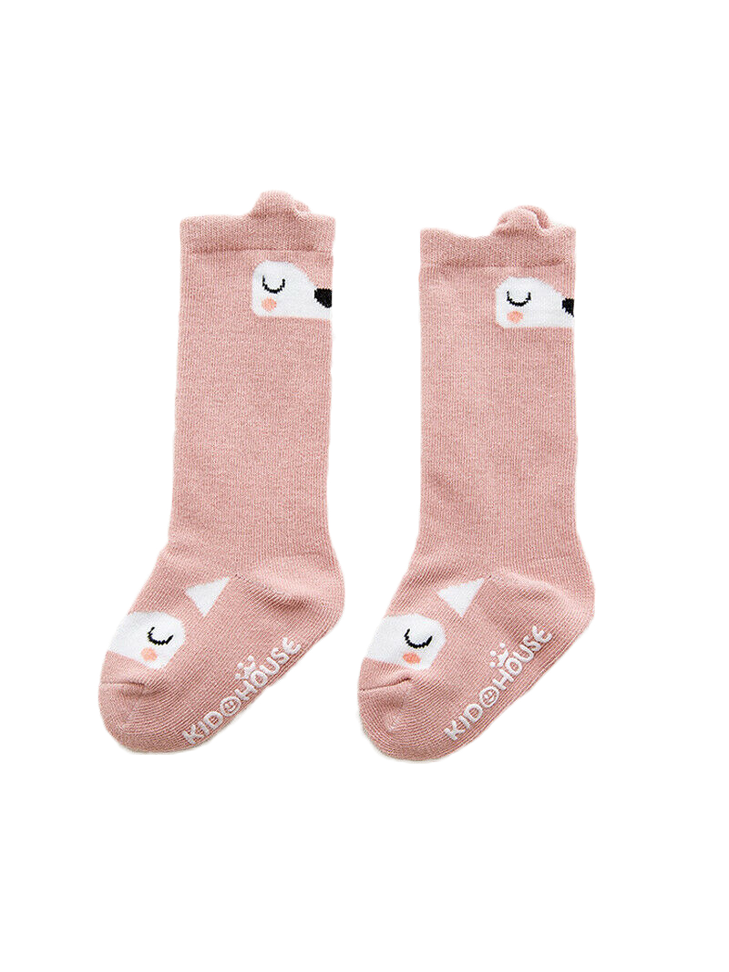Style Unisex Socks Casual Knee High Stockings Pink Pig Faces Cotton Socks One Size