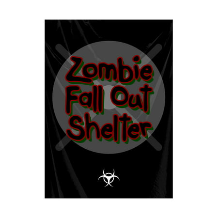 Zombie Fall Out Shelter Red Green Print Large Fun Scary Humor Halloween Seasonal Decoration Sign  Aluminum Met, 12x18](Halloween Liedjes Met Muziek)