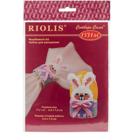 """Riolis Plastic Canvas Kit 1.5""""X2.75""""-Bunny Egg Stand (10 Count) - image 1 of 1"""