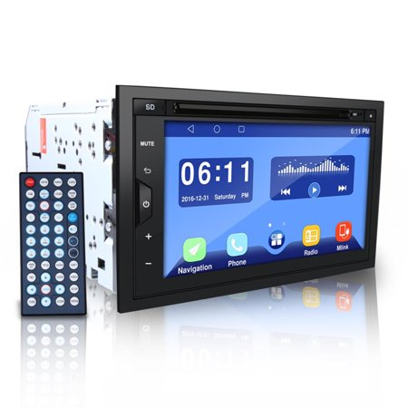 Pyle Double DIN Android Stereo Receiver System with Integrated Google Play  Store and Google Maps, GPS Navigation, Wi-Fi and BT Streaming, Multimedia