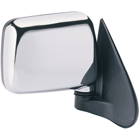 Rodeo Manual Mirror - 64005I - Fit System Passenger Side Mirror for 94-95 Isuzu Pick-Up, 94-97 Rodeo, US built, chrome, foldaway ; Isuzu Rodeo, chrome, foldaway, Manual