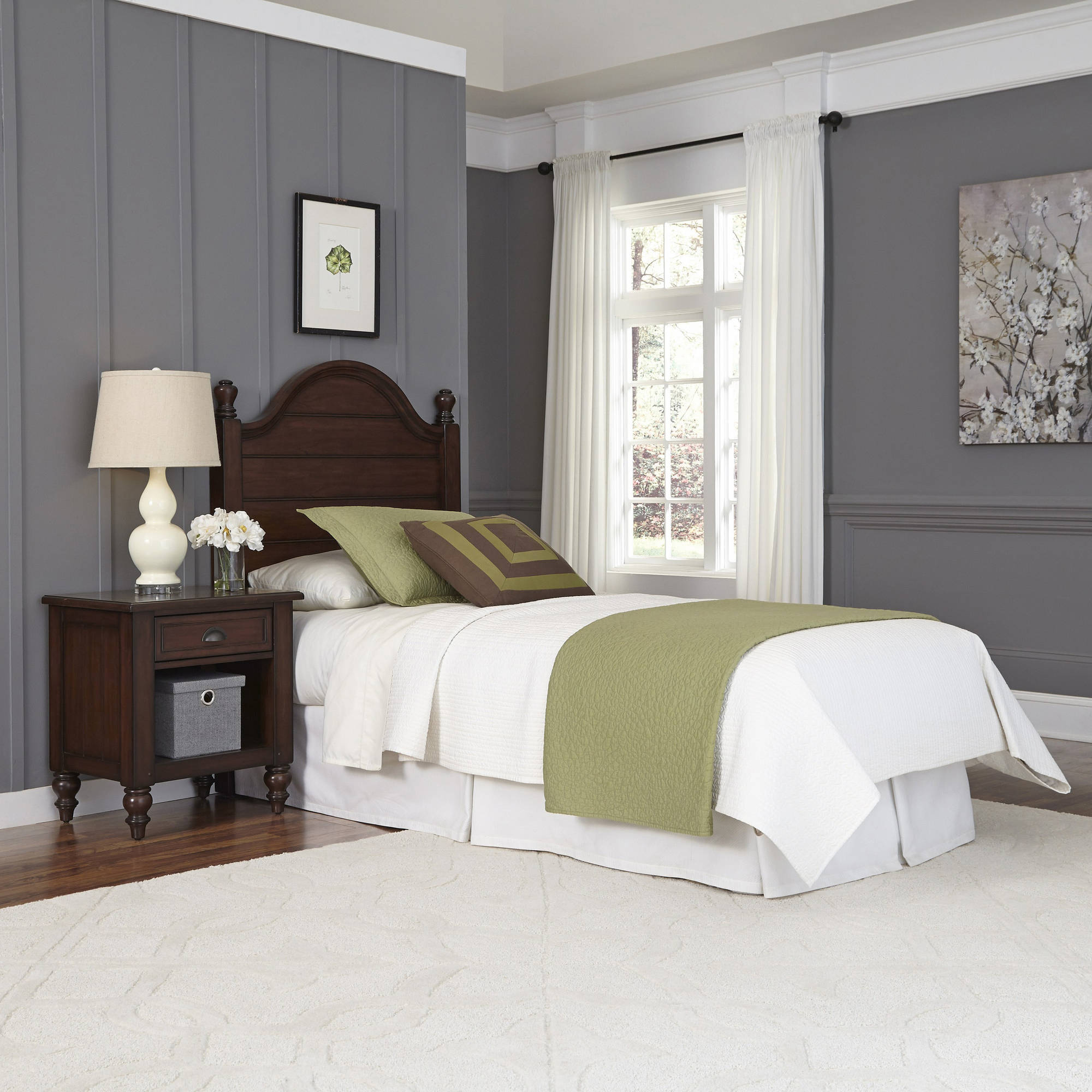 Home Styles Country Comfort Twin Headboard and Night Stand