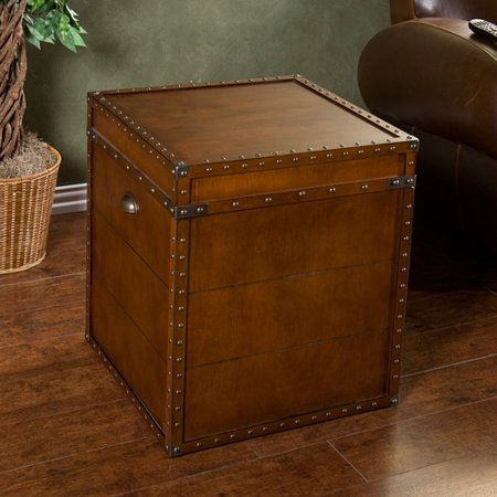 Claremore Trunk End Table, Walnut ()