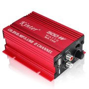 Kinter MA-150 Power Amplifier, LED Display, HI-FI Stereo Audio Amplifier, 2x500W 90db 2-Channel Subwoofer Amp, with Power Supply, for CD DVD MP3 PC Home Car Motorcycle Boat computer speaker