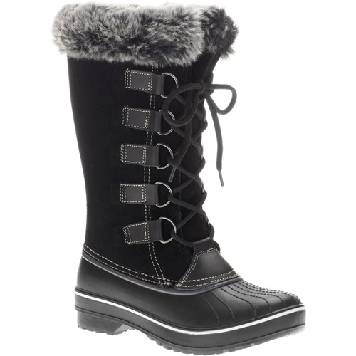 Ozark Trail Women's Parka Winter Snow Boots with Faux-Fur Cuffs