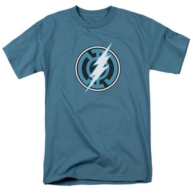 Green Lantern-Blue Lantern Flash Short Sleeve Adult 18-1 Tee, Slate - 2X