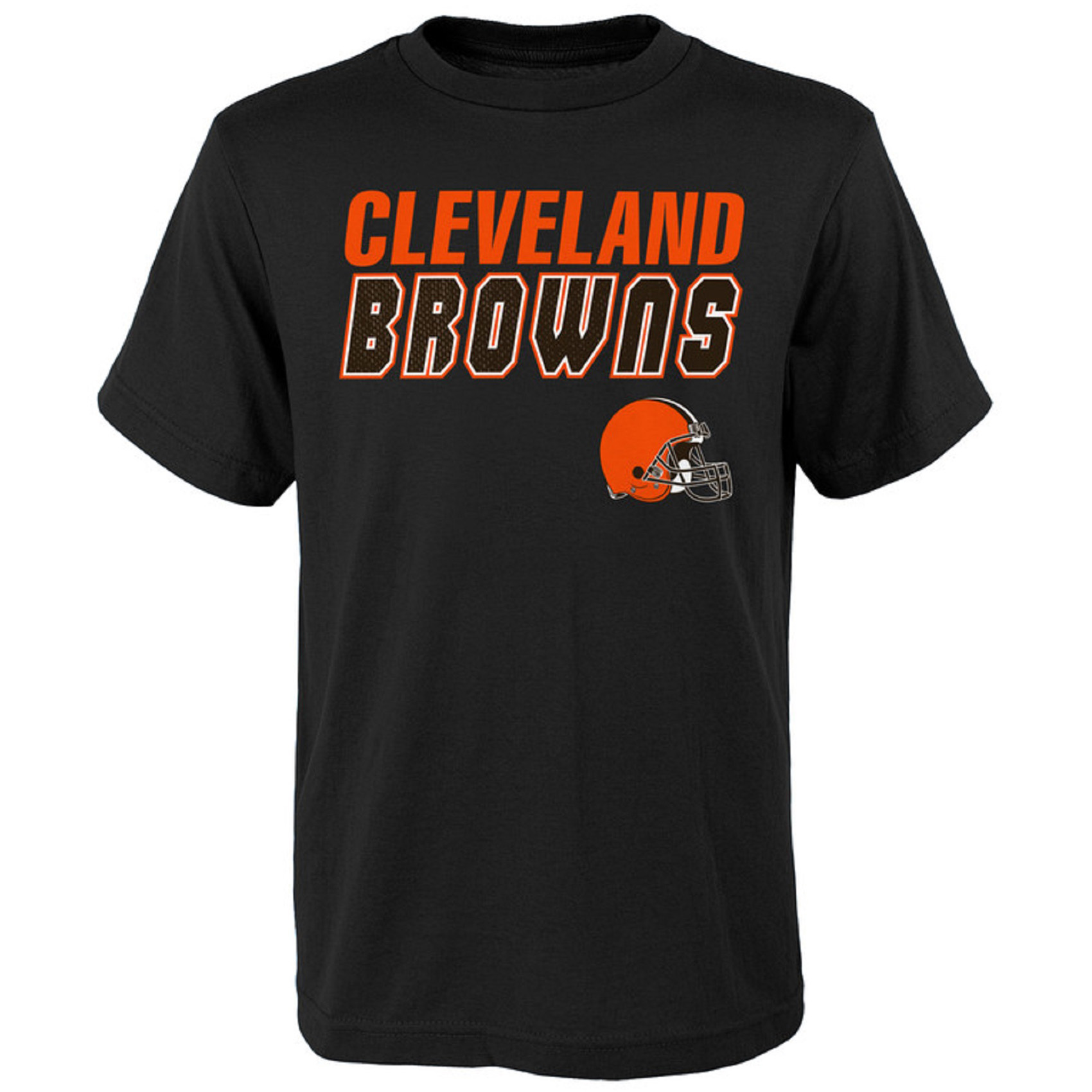 Youth Black Cleveland Browns Outline T-Shirt