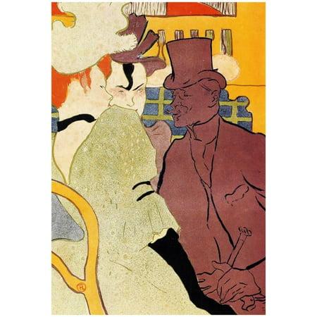 Henri de Toulouse-Lautrec The Englishman at the Moulin Rouge 2 Art Pr... (Henri Bendel Type)