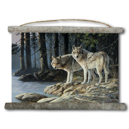 WGI-GALLERY Shades of Gray Painting Print on White Canvas