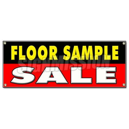 Floor Sample Sale Banner Sign Furniture Rugs Lamps Dinette