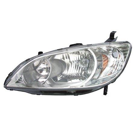 2004-2005 Honda Civic Coupe/Sedan Hybrid Driver Left Headlight Lamp Assembly