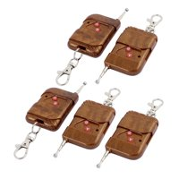 5 Pcs 433MHz  Remote Control 2-Channel Key Fob for Electric Door Brown