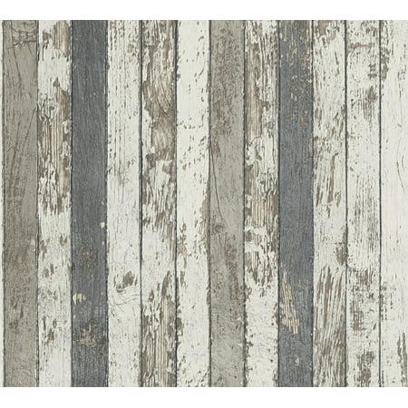 Best OF Wood'n Stone - Modern Wood Stone Brick Colorful Wallpaper Roll - image 1 de 1