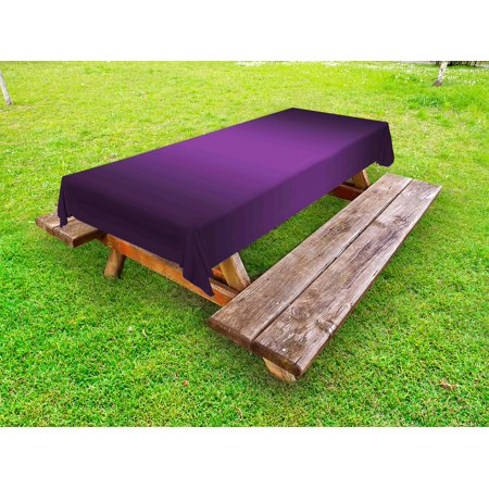 Ombre Outdoor Tablecloth, Cinema Curtain Movies Series Inspired Color Ombre Design Digital Artsy Styled Print Image, Decorative Washable Fabric Picnic Table Cloth, 58 X 84 Inches,Purple, by Ambesonne