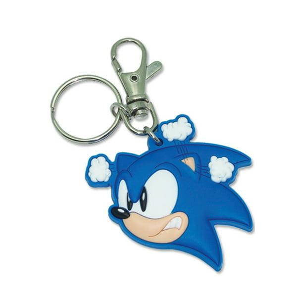 Sonic The Hedgehog Key Chain Sonic The Hedgehog New Angry Head Pvc Anime Ge4764 Walmart Com Walmart Com