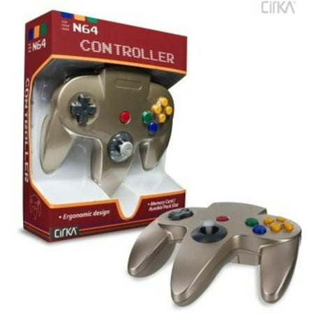 CirKa N64 Controller: Gold for Nintendo 64