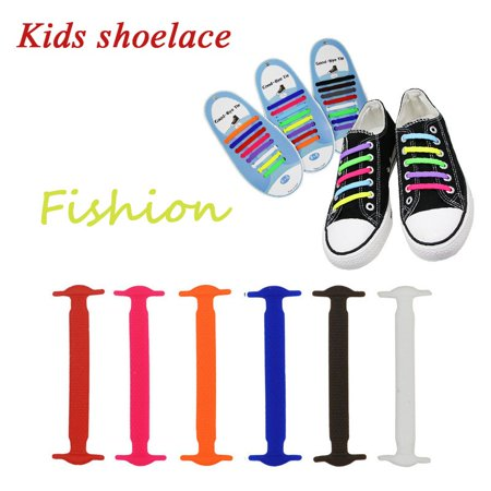 12-Packs No Tie Shoelaces for Kids - Best in Sports Shoelaces - Waterproof Silicone Elastic Athletic Running Shoe Laces for Sneaker and Casual (Best Shoes For Gym Classes)