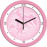 Suntime ST-CO3-MSC-PWCLOCK McNeese State Cowboys-Pink Wall Clock