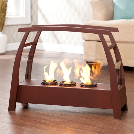 Upton Home Rustic Red Portable Indoor/ Outdoor Gel Fuel Fireplace ...