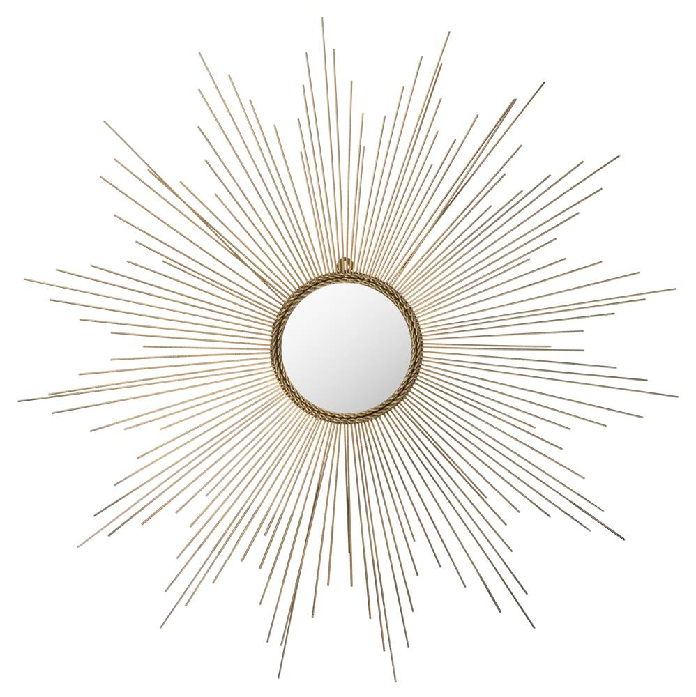 41 in. Sunburst Mirror in Gold Finish