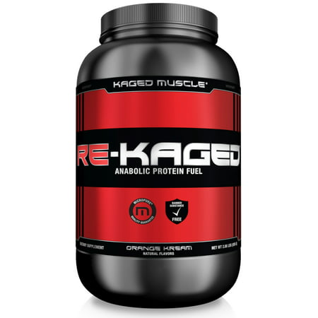 Kaged Muscle Re-Kaged Anabolic Protein Powder, Orange Kream, 2.06