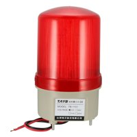 Uxcell DC 12V Red Flashing Light Buzzer Horn Industrial Signal Warning Tower Lamp