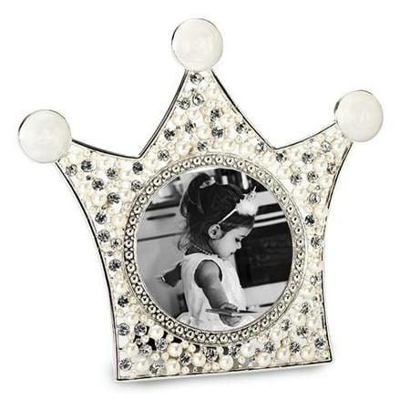 QG Silver-tone Embellished Tiara 3x3 Photo Frame