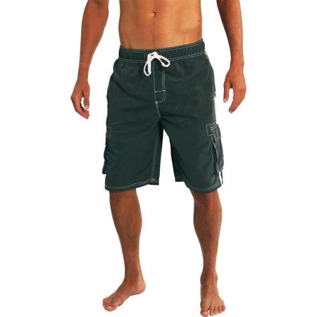 d109c738b3 NORTY - Norty Mens Swim Trunks - Watershort Swimsuit - Cargo Pockets -  Drawstring Waist Charcoal 2 / XX-Large - Walmart.com