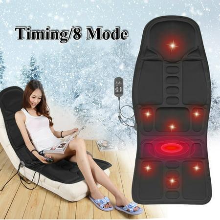 Lumbar Massage Cushion - Memory Foam Lumbar Support Massage Cushion with Heat