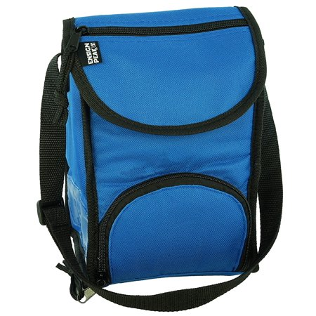 Leak Proof Peva Lining - Deluxe Insulated Lunch Sack with Adjustable Strap, Zipper Pocket and Leak Proof Lining - Royal