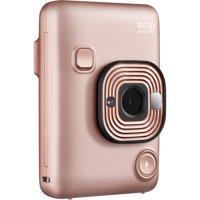 Instax Mini Hybrid LiPlay Camera, Blush Gold
