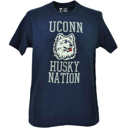 - NCAA UConn Huskies Connecticut Blue Short Sleeve Mens Crew Neck Tshirt Tee XL