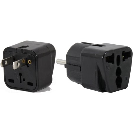 Us To Peru Travel Adapter Plug Universal South America Type A   E C F  Ac Pack 2