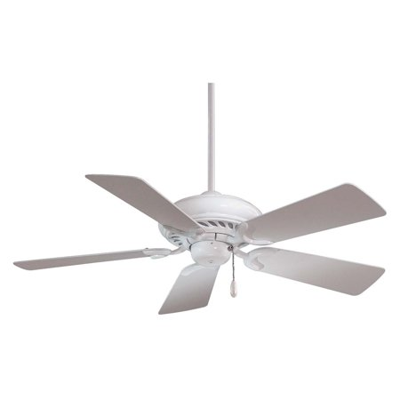 d68f0d4ac2db Minka Aire F563-WH Supra 44 in. Indoor Ceiling Fan - White - Walmart.com