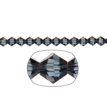 Bicone Crystal Beads Night Blue Faceted xilion Crystal For Jewelry Making mm 74Cnt