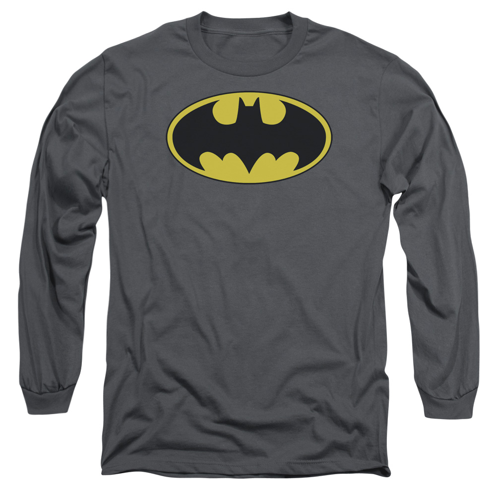 Batman Classic Bat Logo Mens Long Sleeve Shirt by Trevco