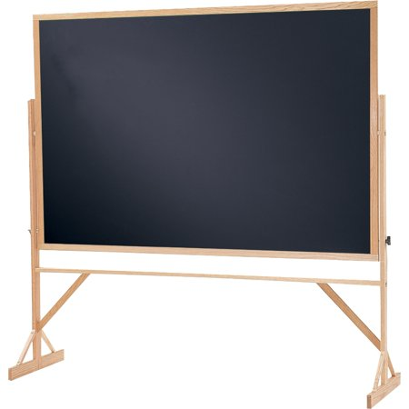 Aluminum Reversible Markerboard Chalkboard - Quartet, QRTWTR406810, Black Chalkboard 2-in-1 Reversible Easel, 1 / Each