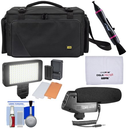 Pro Series Camera Bag - Zuma EC8188 Easy Bag Pro Series Camera / Camcorder Case with LED Video Light + Microphone + Kit