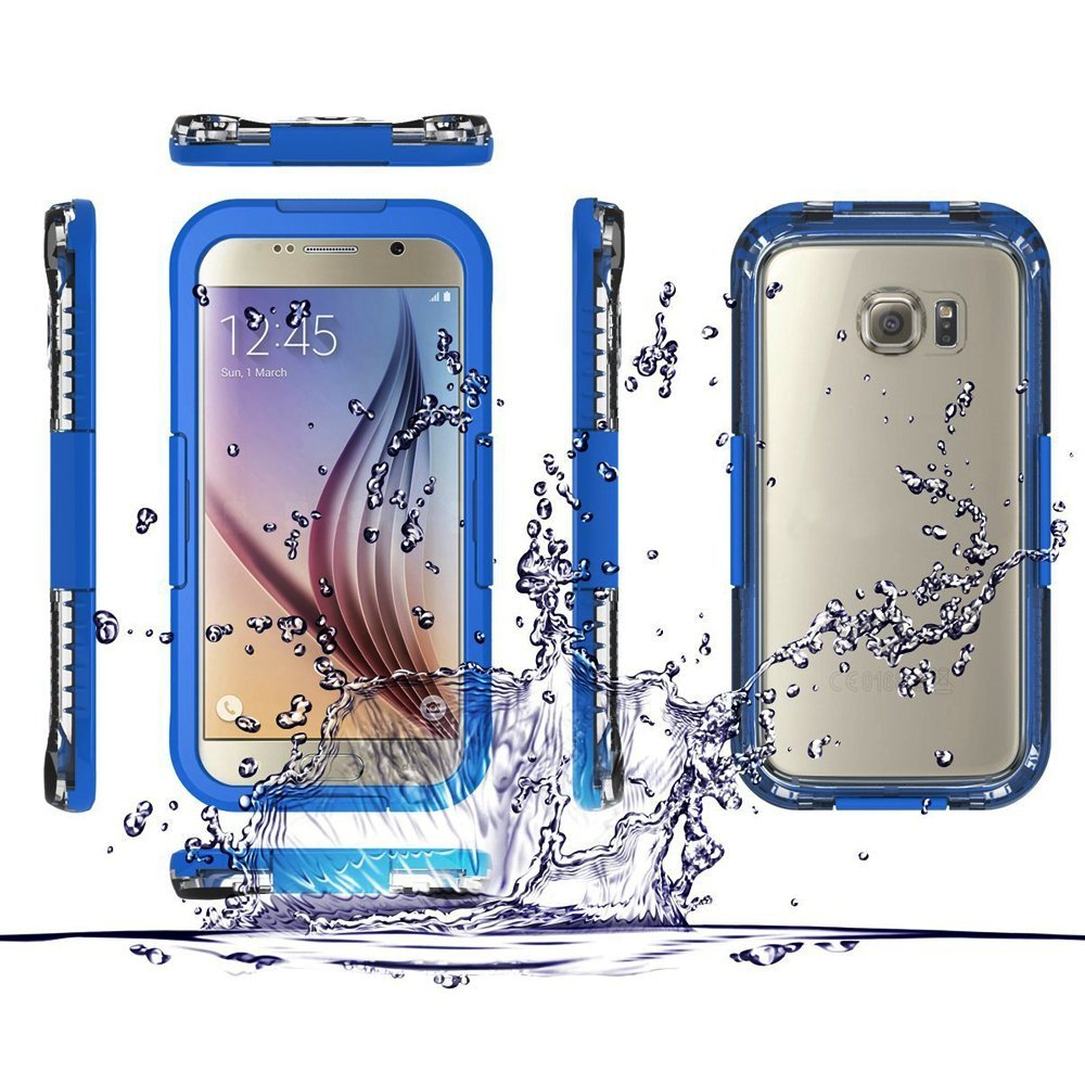 Samsung Galaxy S6 / S6 Edge Full Body Sealed Waterproof Snowproof Shockproof Dirtproof Case Blue