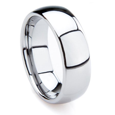 - Tungsten Carbide 7MM Men's Plain Dome Wedding Band Ring Sz 10.0