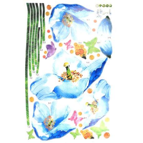Ornement floral famille pvc impression autocollant for Autocollant mural walmart