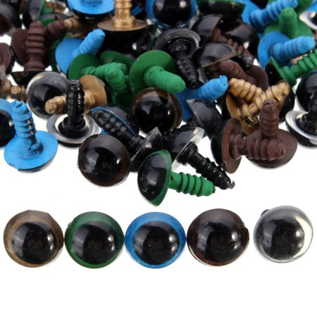 100pcs/pack 10mm Plastic Eyes Safety Eyes Multicolor Craft DIY Accessory With Washer For Teddy Bear Animal Dolls Plush Animal Toy](Bear Craft)