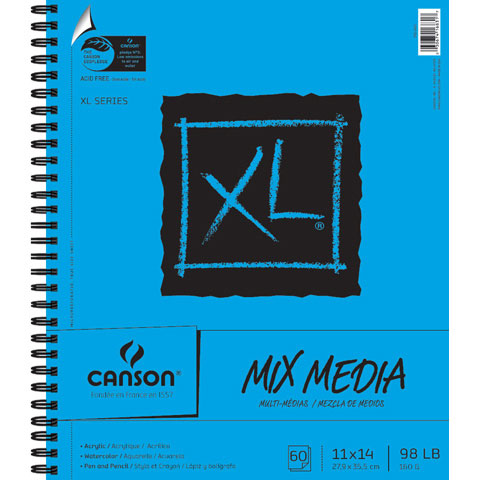 """Canson XL Mixed Media 11"""" x 14"""" Sketchpad, 1 Each"""