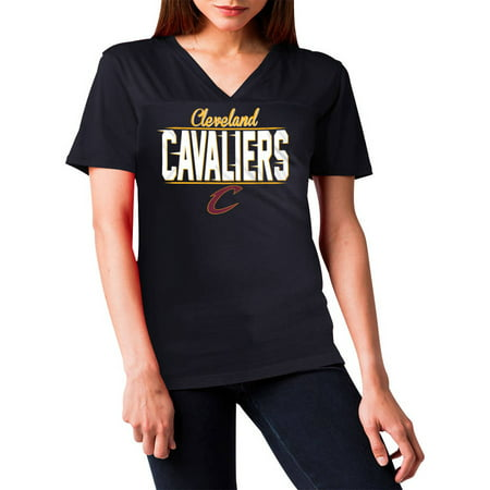 Nba Cleveland Cavaliers Womens Short Sleeve Polyester V Neck Tee