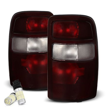 2500 Tail Light Lh Driver - VIPMOTOZ Smoke Red Lens OE-Style Tail Light Lamp Assembly For 2000-2006 Chevy Tahoe Suburban GMC Yukon XL 1500 2500, Driver & Passenger Side