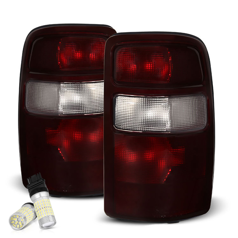 VIPMOTOZ Smoke Red Lens OE-Style Tail Light Lamp Assembly For 2000-2006 Chevy Tahoe Suburban GMC Yukon XL 1500 2500, Driver & Passenger Side