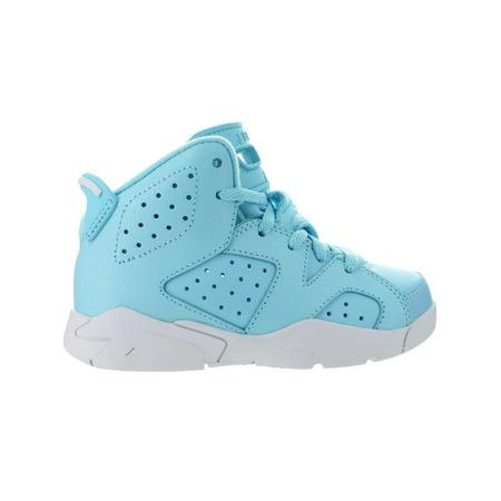 0ac898f4d27bfb Kids Air Jordan Retro 6 VI PS Pantone Still Blue White 543389-407 ...
