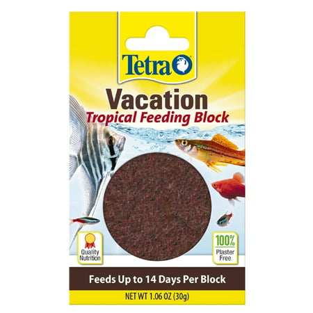 (2 Pack) Tetra TetraVacation Tropical Feeding Block, 1.06 oz Feeding Frozen Fish Food