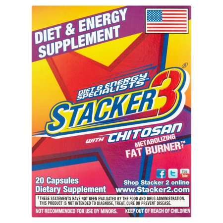 Stacker3 Diet   Energy Specialists Capsules  20 Count