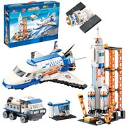 City Space Shuttle and Space Rocket Toy Building Blocks Set, Cool Spaceship Toy for Kids, Astronaut Roleplay STEM Toy for Boys and Girls (1091 Pieces)